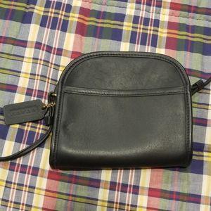 Vintage 1990s Coach Black Leather Mini Bag